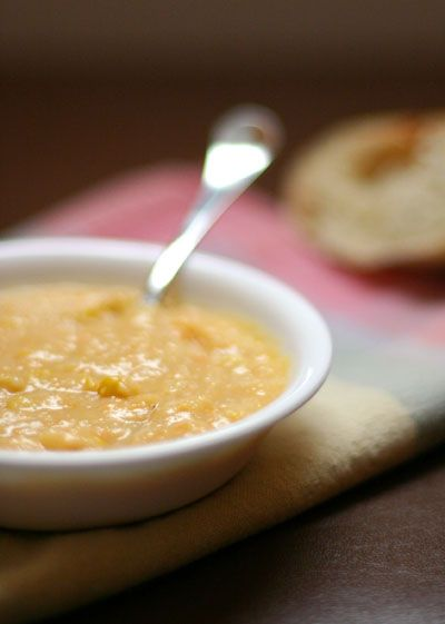 Carrot Potato Cheese Soup with Corn from Pinch My Salt