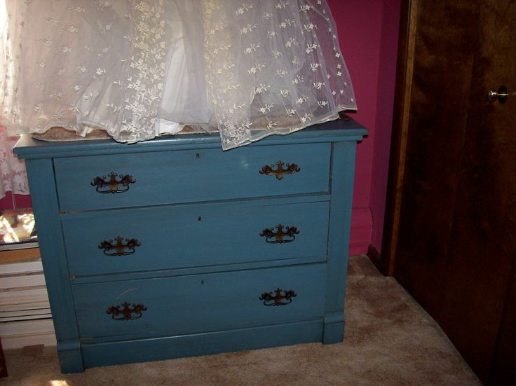 dresser teal blue green wood painted chest of drawers cabinet wooden. Black Bedroom Furniture Sets. Home Design Ideas
