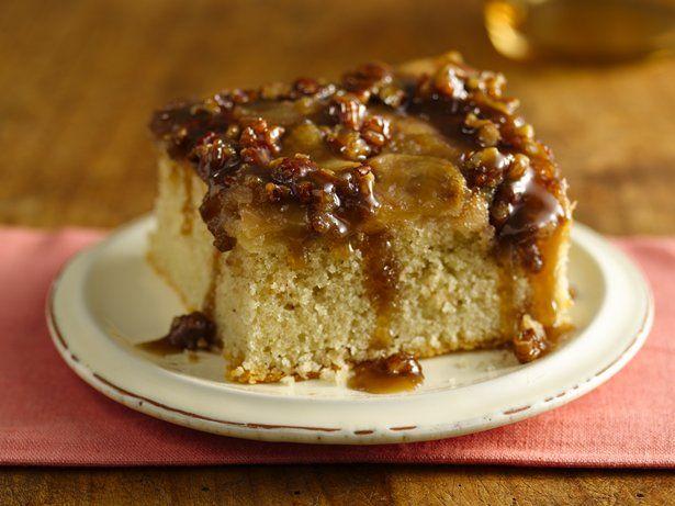 Gluten Free Warm Caramel Apple Cake by Betty Crocker.