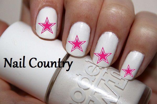 50pc Pink Dallas Cowboys Football Nail Decals Nail Art Nail Stickers ...