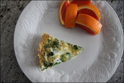 Brown rice crusted quiche | Food - Light / Healthy Recipes | Pinterest