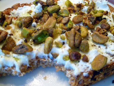 Whole-Grain Bread with Ricotta and Pistachios