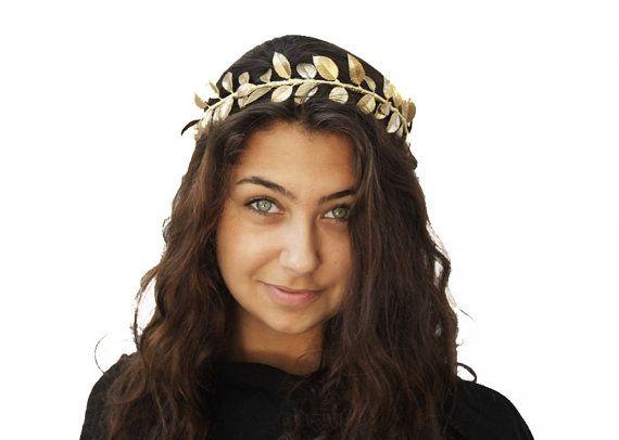 Goddess Gold Leaf Crown, Greek Headpiece, Grecian, Gold ...