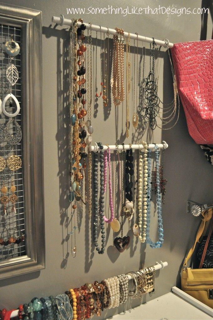 DIY jewelry storage and organization
