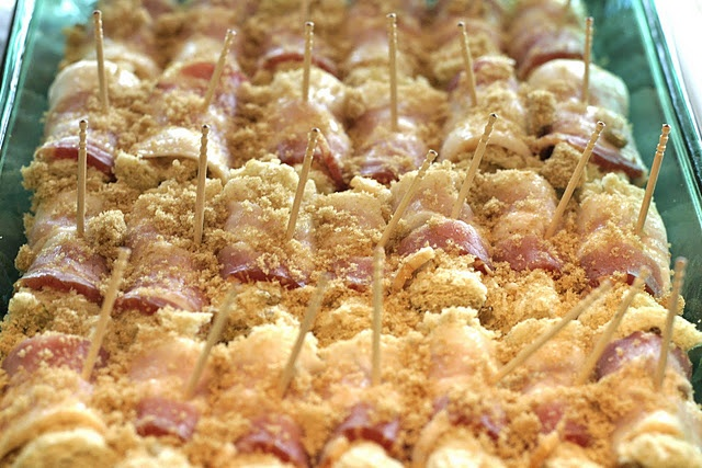 Bacon Roll-Ups | Appetizers and Dips | Pinterest