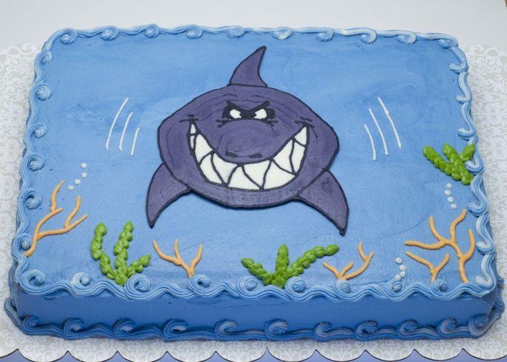 Shark Birthday Cake Decorations Shark Cake Ideas Shark ...