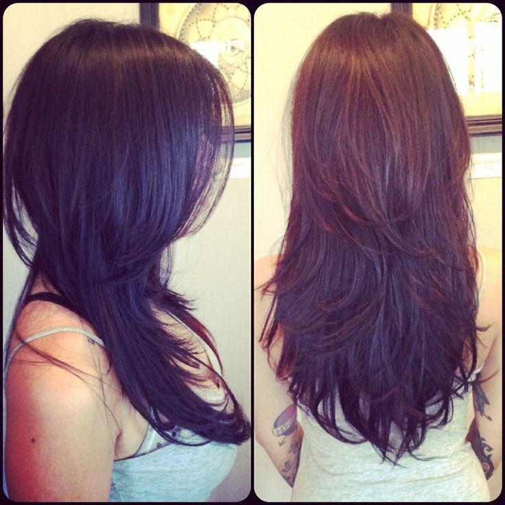 Long hair. Brunette with layers. | Long Hair | Pinterest