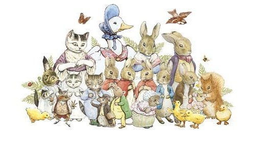 Lovely characters created by artist Beatrix Potter