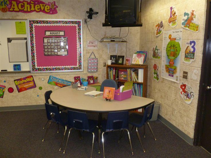 Teacher s desk small group work table