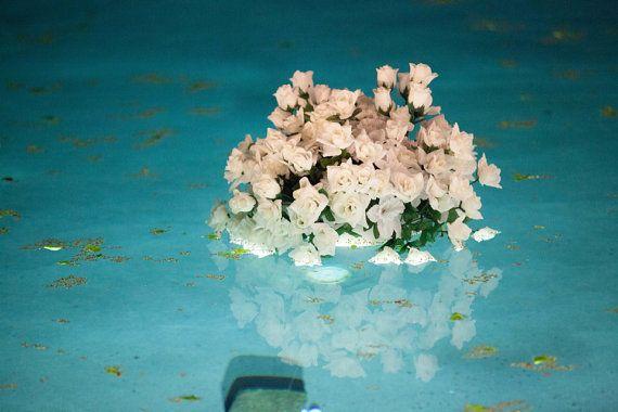 Floating Flowers for Outdoor Pool Weddings on Etsy, $165.00 Pool side weddings Flower arrangement