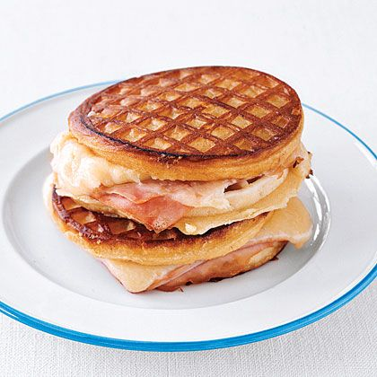 Grilled Ham and Cheese Waffle Sandwiches | Cooking | Pinterest