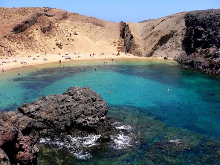 Playa de Papagayo (Lanzarote)  ♥ Islas Canarias / Canary Islands  P…