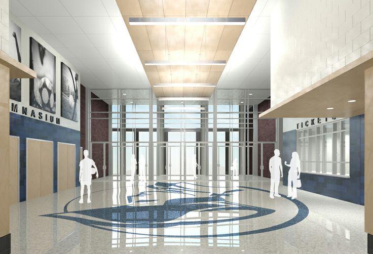 dover high school lobby school spaces pinterest