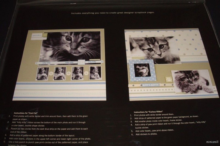 Cat scrapbook page for the furbabies pinterest