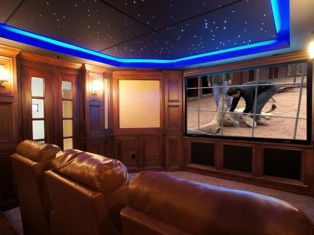 Cool Night Sky In This Home Theater Room For The Home Pinterest