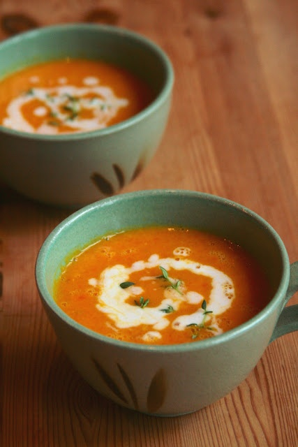 Curried carrot coconut soup. This sounds very intriguing...I can't ...