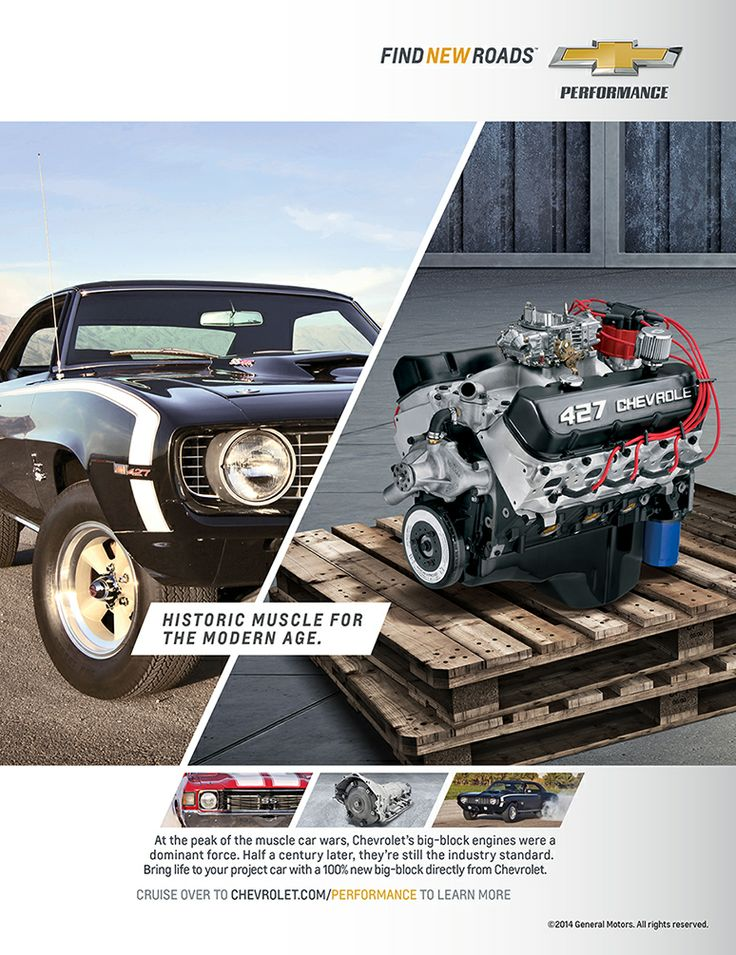 Gm Performance Parts 19166393 Gm Zz427 480hp Crate Engine ...