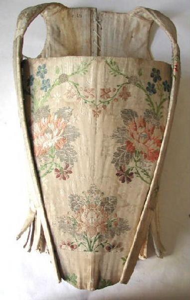 catalogue Joconde - entre  1750 et 1760, France, extérieur en soie, baleines en métal.