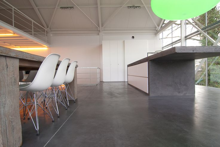 Comconcrete Kitchen Floor : Concrete kitchen floor & island.  For the Home  Pinterest
