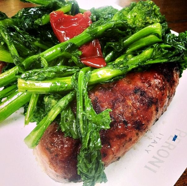 Grilled sausage and broccoli rabe from Bar Amalfi