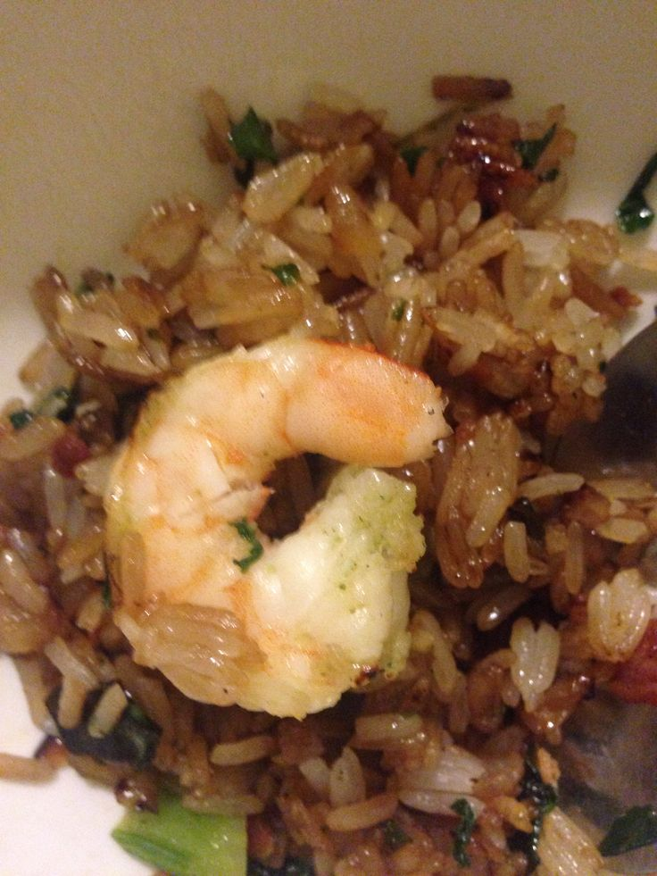 Lime Pepper Shrimp & Bacon Kale Fried Rice. It was so good I almost ...