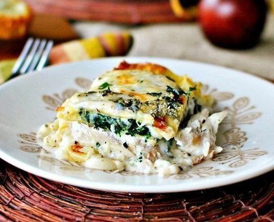 White Cheese & Chicken Lasagna | Dinner when Kids are gone | Pinterest