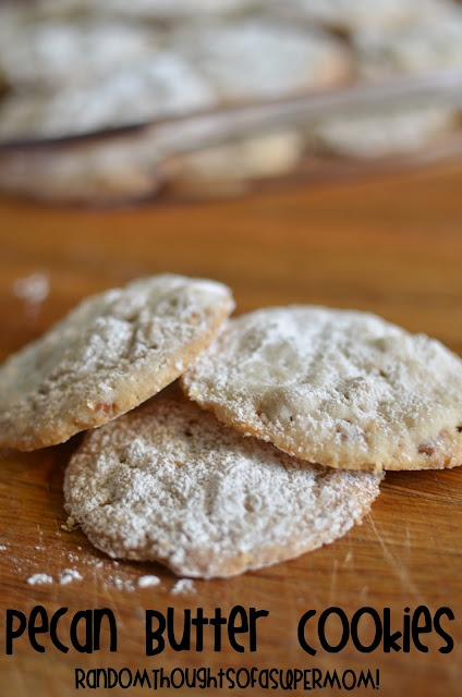 Pecan Butter Cookies. So yummy and buttery!