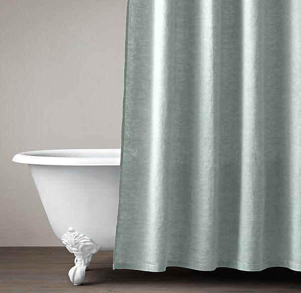 Stonewashed Belgian Linen Shower Curtain Decor Ideas Pinterest