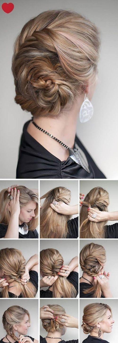 Какую прическу сделать на новый год 2015 на короткие волосы своими руками