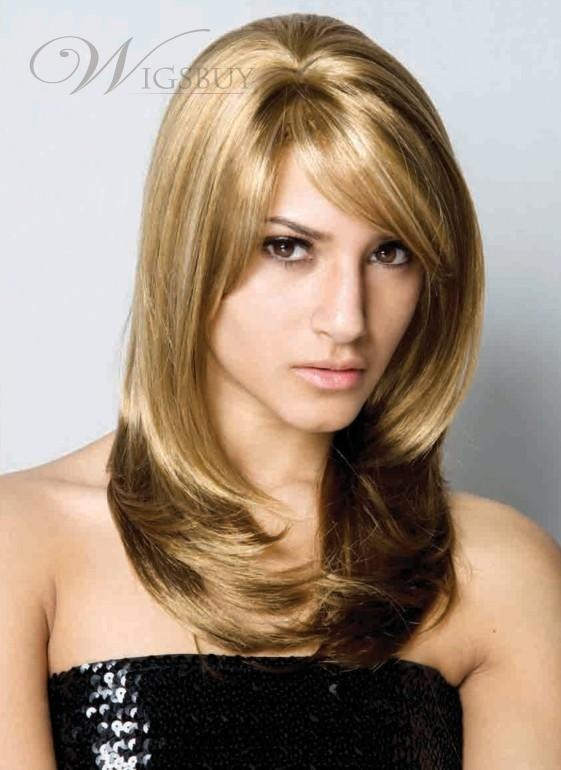 Hair stylish royal party long fabulous hairstyle silky blonde straight