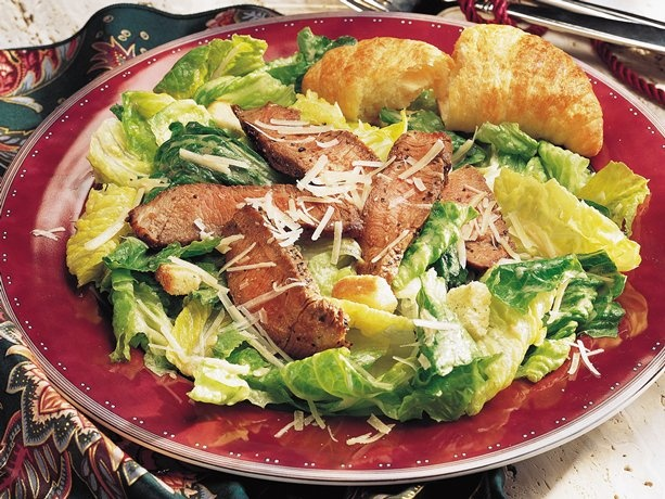 Grilled Steak Caesar Salad: Beefy, cheesy and easy--a true Caesar ...