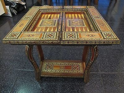 Syrian Mosaic Game Table Chess Backgammon | eBay | My Style