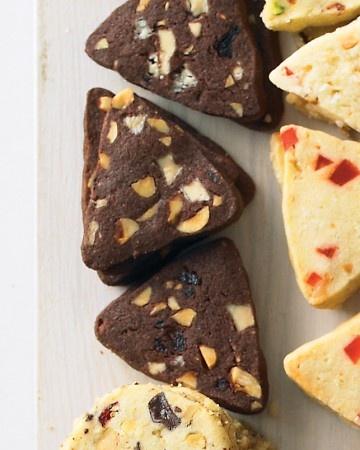White Chocolate, Hazelnut, and Cherry Triangles