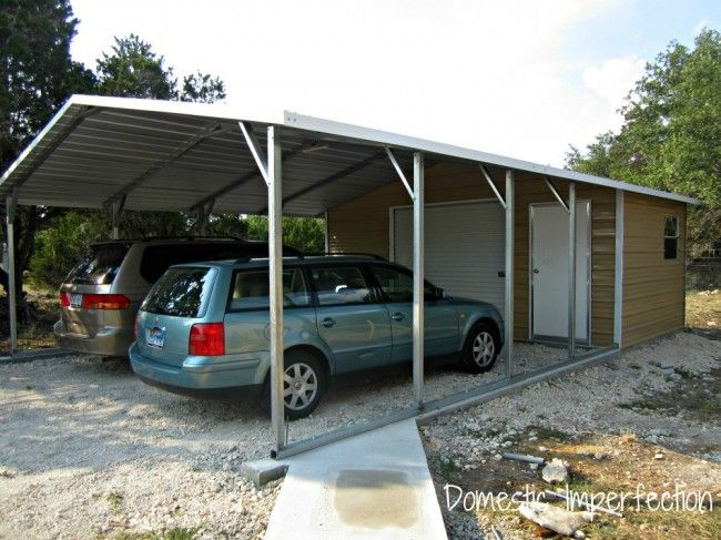 diy carport workshop combo outdoor pinterest. Black Bedroom Furniture Sets. Home Design Ideas