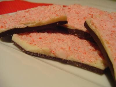 Layered Peppermint Bark, with some tips on keeping the two layers from ...