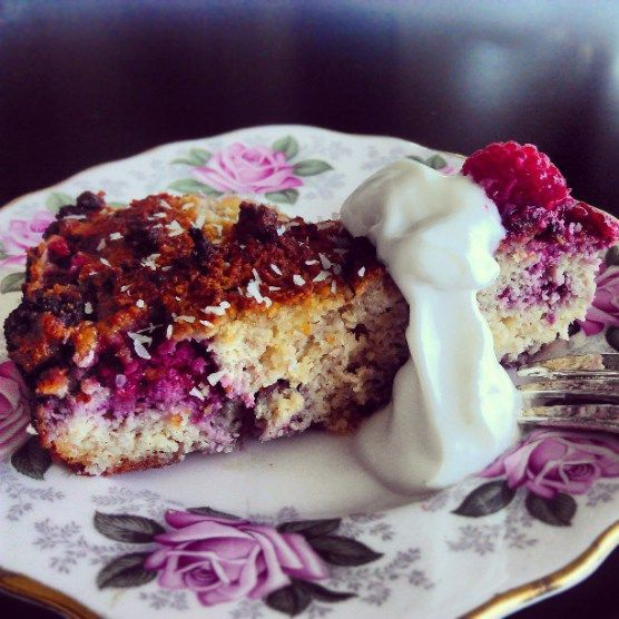 Coconut raspberry cake. Clean eating | ! ~ HEALTHY RECIPES / FOOD ...