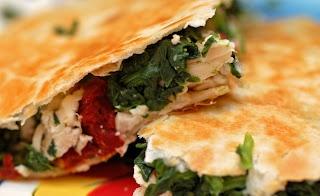 Chicken, Spinach and Feta Quesadillas | Healthy eats.... | Pinterest