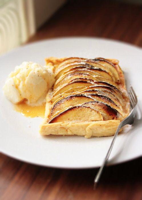 Apple Custard Tart | apple pie | Pinterest