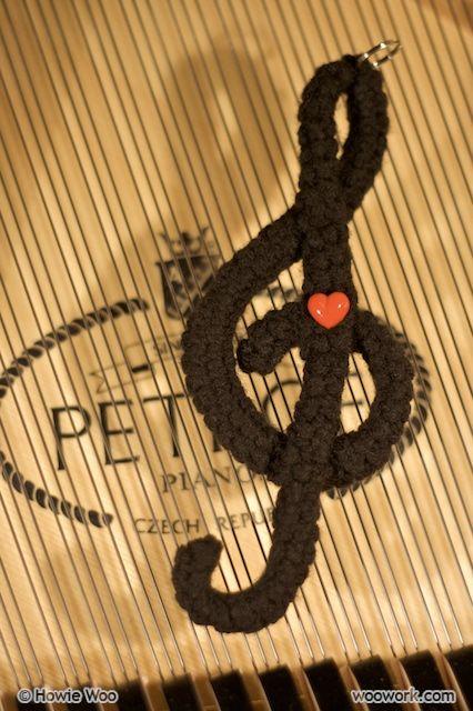 Crocheting Music : crochet music note knitting Pinterest
