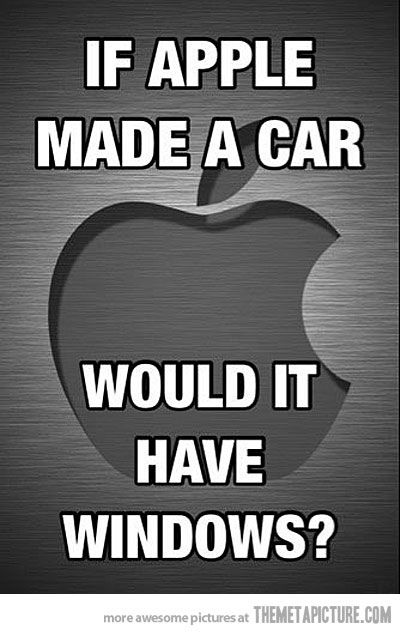 If Apple MAde CARS ? Funny