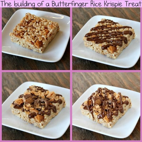 Butterfinger Rice Krispie Treats | Recipe