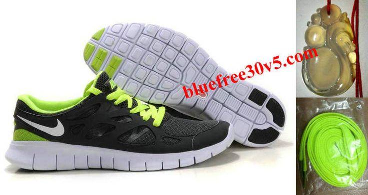 Womens Nike Free Run 2 Gray Green Shoes
