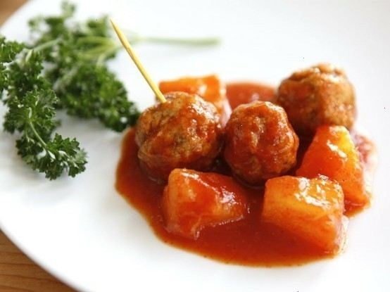 sweet and sour chicken sweet and sour meatballs ii recipe yummly sweet ...