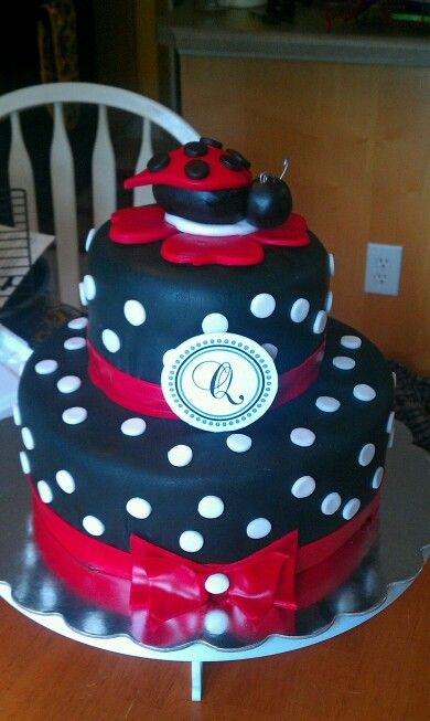 ladybug baby shower cake baby showers pinterest