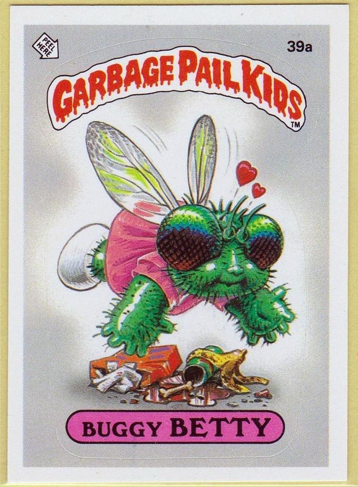 Garbage Pail Kids Buggy Betty Stinckers Pinterest