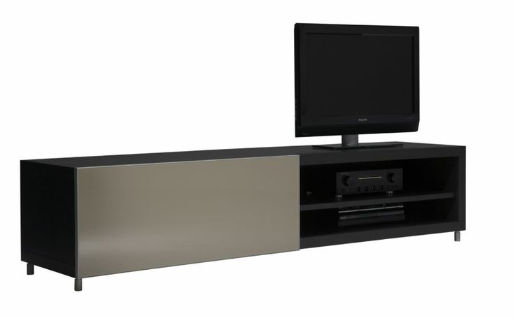 ligne roset cineline tv unit with niches for peripherals the cabling for which runs behind the. Black Bedroom Furniture Sets. Home Design Ideas