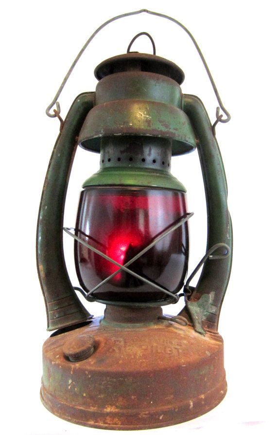 vintage red glass railroad lantern. Black Bedroom Furniture Sets. Home Design Ideas