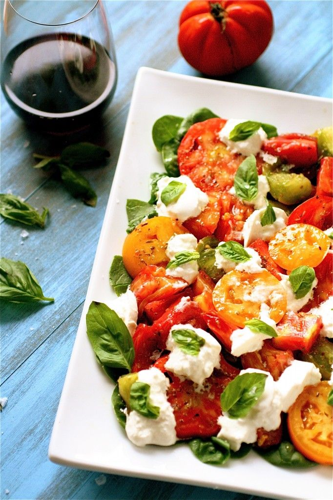 heirloom tomato and burrata salad | Yummyyyy get in my tummy | Pinter ...