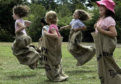 sack races game kids love go outside and play. Black Bedroom Furniture Sets. Home Design Ideas