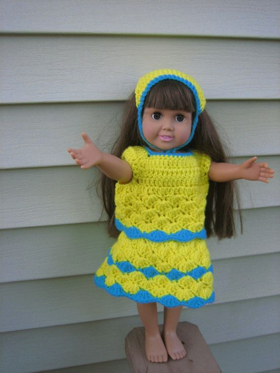 Casual Play Crochet Pattern with Sandals for American Girl Dolls